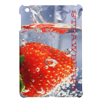 Strawberry red water in glass glossy fancy iPad mini cover