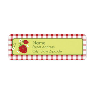 Strawberry Return Address Label