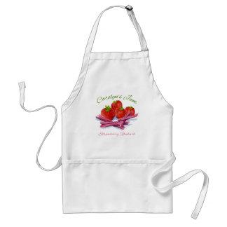strawberry rhubarb jam apron