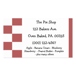 Strawberry Rhubarb Pie Colors Business Card Templates