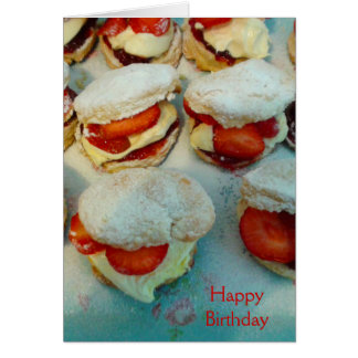 Strawberry Scones/Cakes Card