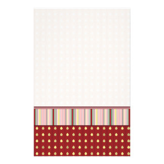 Strawberry Seeds Pattern With Border Stationery
