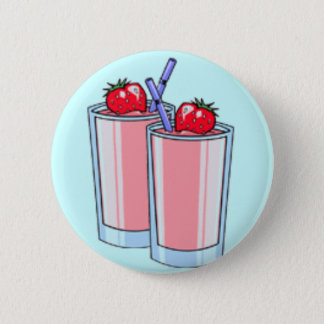 Strawberry Shakes 6 Cm Round Badge