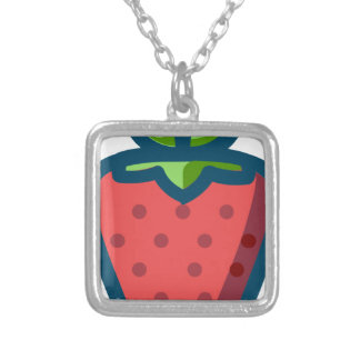 Strawberry Silver Plated Necklace