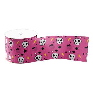 strawberry skulls! grosgrain ribbon
