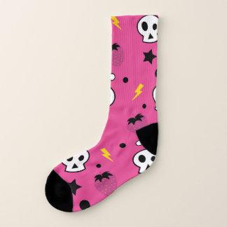 strawberry skulls! socks