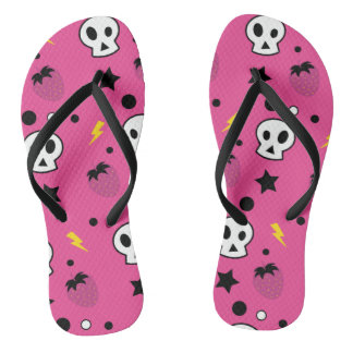 strawberry skulls! thongs