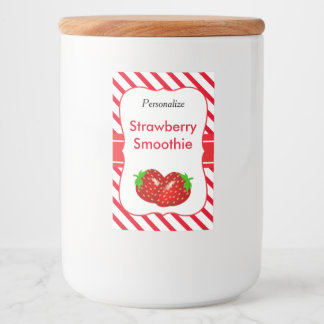 Strawberry Smoothie Food Label