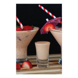 Strawberry Smoothie Stationery Design