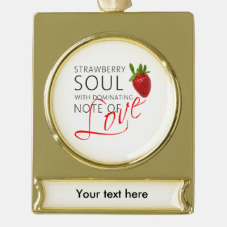Strawberry Soul Gold Plated Banner Ornament