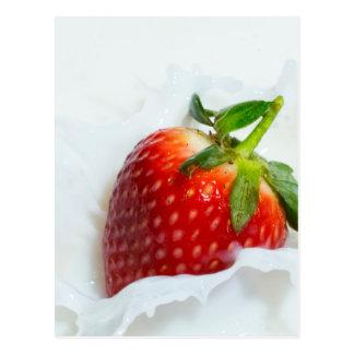 Strawberry Splash Postcard