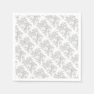 Strawberry Spray Line Art Design Paper Napkin