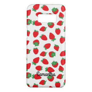 Strawberry Spread with Name or Text Case-Mate Samsung Galaxy S8 Case