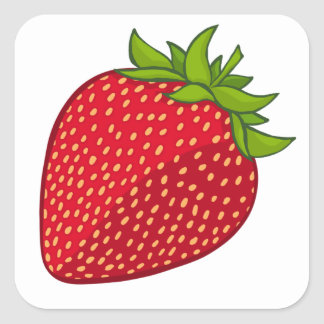 Strawberry Square Sticker