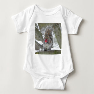 Strawberry squirrel baby bodysuit