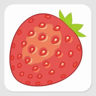 Strawberry Stickers (Square)