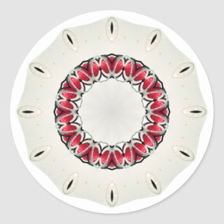 Strawberry Strawberries Clock Sundial Red Candles Round Stickers