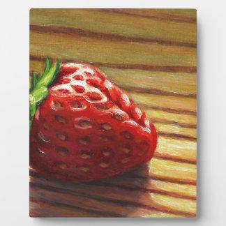 Strawberry Stripe Plaque