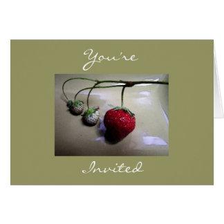 Strawberry Summer Invitation Greeting Card