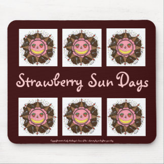 Strawberry Sun Days - Mousepad (chocolate brown)
