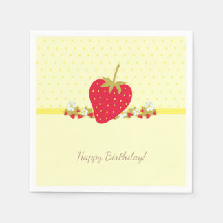 Strawberry Sweet baby First Birthday Party Disposable Serviette