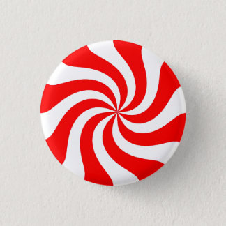 Strawberry Swirl Candy 3 Cm Round Badge