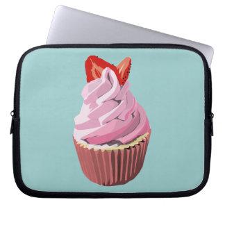 Strawberry swirl cupcake laptop sleeve