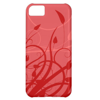 Strawberry Swirl Pink & Red Girly Floral Design iPhone 5C Covers