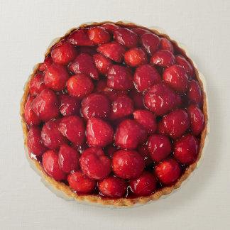 Strawberry Tart Round Pillow
