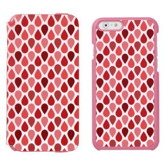 Strawberry Teardrop Pattern Incipio Watson™ iPhone 6 Wallet Case
