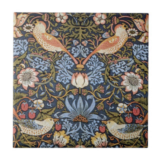 Strawberry Thief by William Morris Ceramic Tile