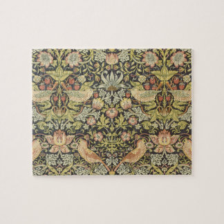 Strawberry Thieves by William Morris, Textiles Jigsaw Puzzle