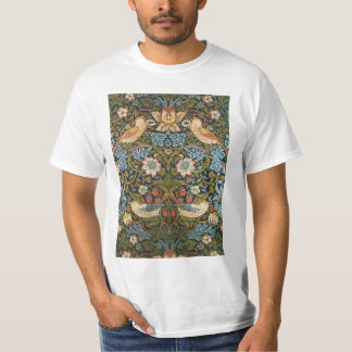Strawberry Thieves by William Morris, Textiles T-Shirt