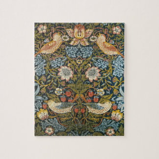 Strawberry Thieves by William Morris, Vintage Art Jigsaw Puzzle