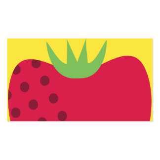 strawberry top fruit chef catering business card