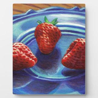Strawberry Trio Plaque