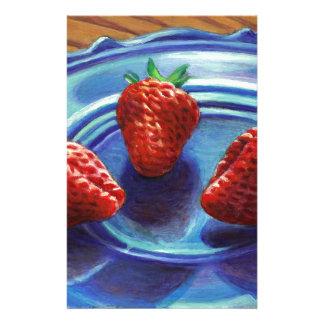 Strawberry Trio Stationery