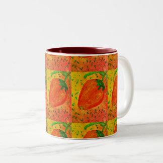 strawberry Two-Tone coffee mug