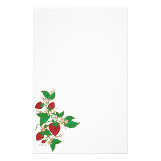 Strawberry Vine Notepaper Personalized Stationery