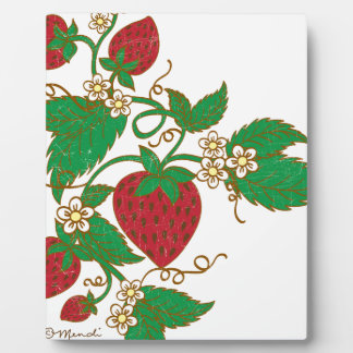 Strawberry Vine Plaque