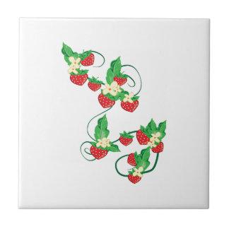 Strawberry Vine Small Square Tile