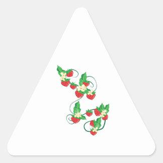 Strawberry Vine Triangle Sticker
