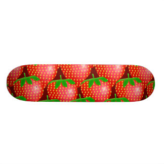 Strawberry Wallpaper Skate Board Deck