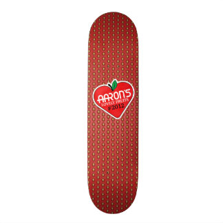 Strawberry with sticker skate boards