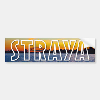 Straya Sydney Sunset Bumper Sticker