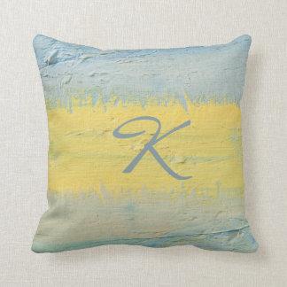 Streak of Sunlight Monogrammed Gift Cushion