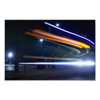 Streaking Streetcar Photo Print