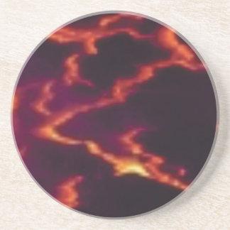 streaks of magma coaster