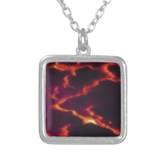 streaks of magma silver plated necklace