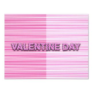 Streaky Valentine 11 Cm X 14 Cm Invitation Card